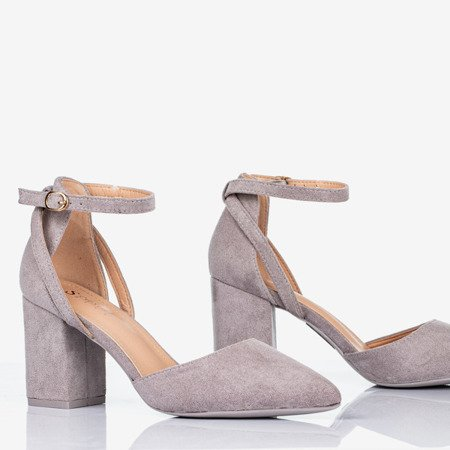 Gray pumps on a higher post Party Time - Footwear 1
