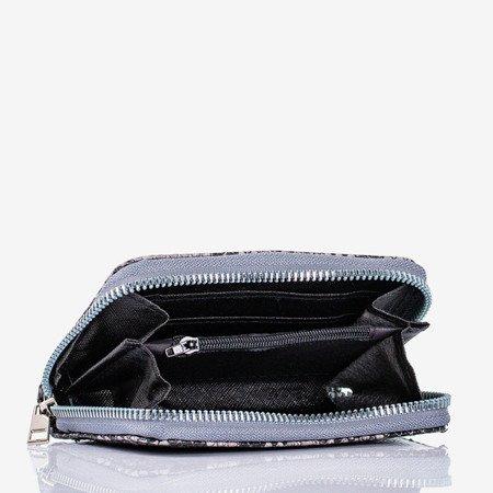 Gray small wallet a'la snake skin - Wallet 1