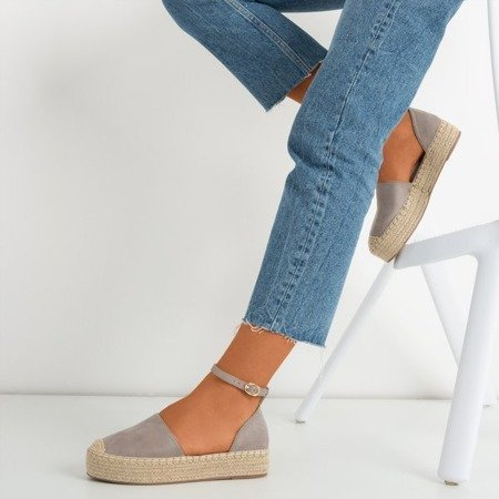 Gray women's espadrilles on the Marcita platform - Footwear 1