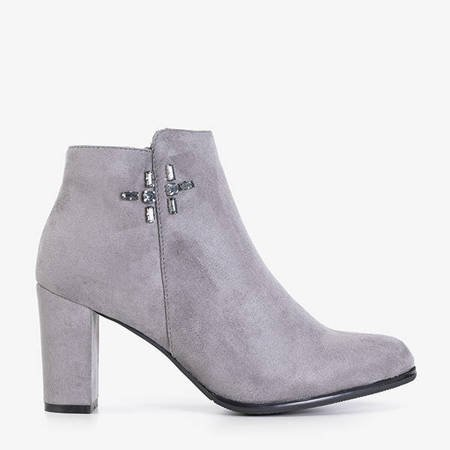 Gray women's boots on the Votan post - Footwear