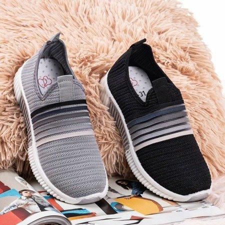 Gray women's slip-on sports shoes - on Rainbow - Footwear 1