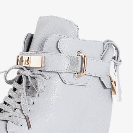Gray women's sneakers on an indoor Fagot wedge - Footwear