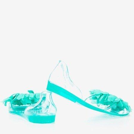 Green meliski decorated with Sinetta crystals - Footwear 1