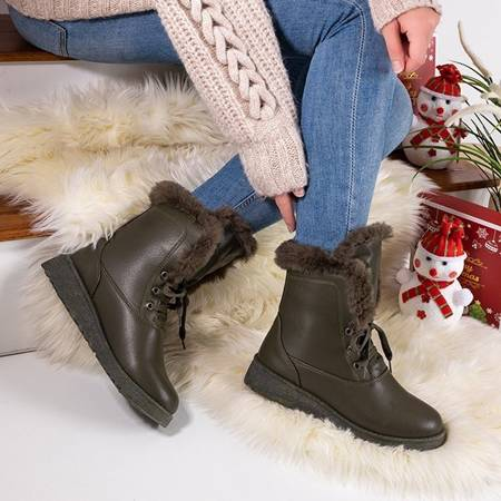 Green snow boots with fur Cool Breeze - Footwear