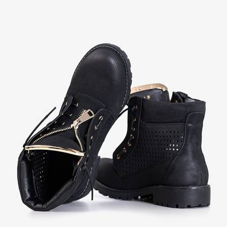 Ice Love black women's openwork hiking boots - shoes