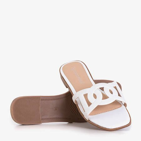 Inasa women's white slippers - Footwear