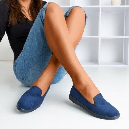 Isyda navy blue loafers - Shoes 1