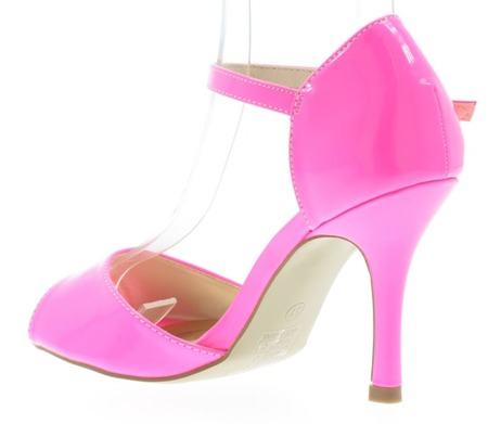 Lacquered sandals in the color of Guisera neon pink - Shoes