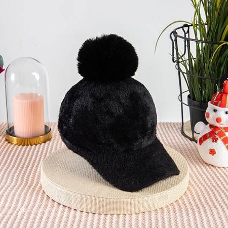 Ladies 'black cap with a tassel - Caps