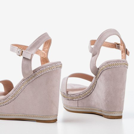 Light gray Demeter wedge sandals - Footwear