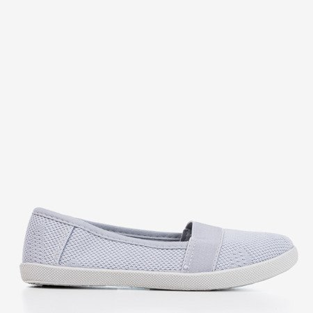 Light gray girls' openwork slip - on Lucida- Footwear