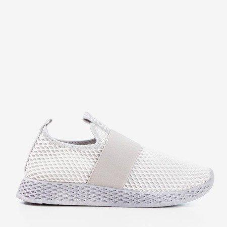 Light gray women's sports slip shoes - on Andalia - Footwear