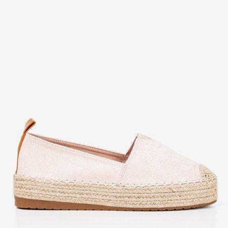 Light pink espadrilles on the Umox platform - Footwear 1