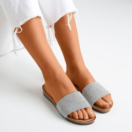 Light pink flip-flops with Artesa cubic zirconia - Footwear 1