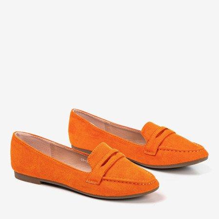 Loures women's orange loafers - Footwear