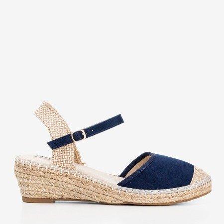 Navy espadrilles wedge sandals Jorcia - Footwear 1