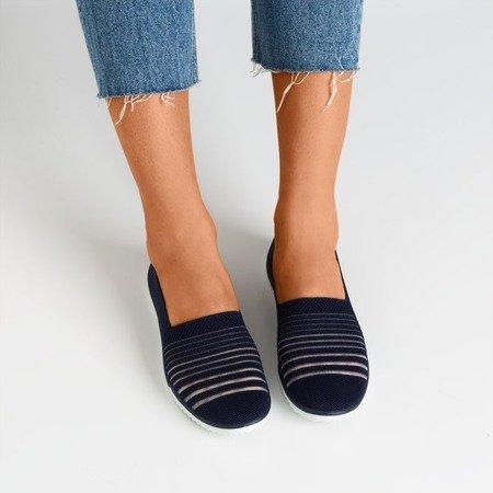 Navy slip-on sneakers Yeqa - Footwear 1