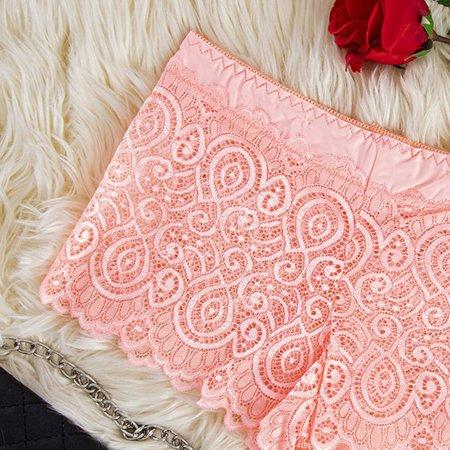 Neon Pink Women's Lace Boxer Shorts - Underwear