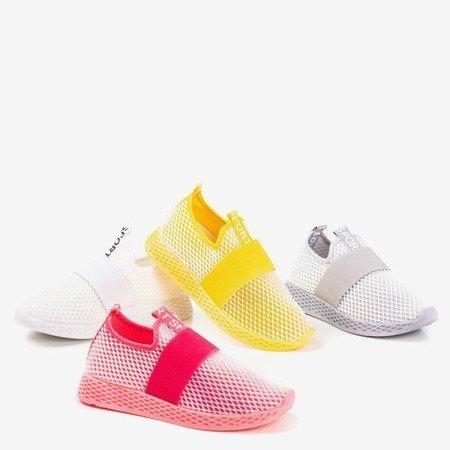 Neon pink sports slip-on women's shoes - on Andalia - Footwear 1