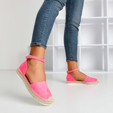 Neon pink women's espadrilles on the Citiva platform - Footwear 1