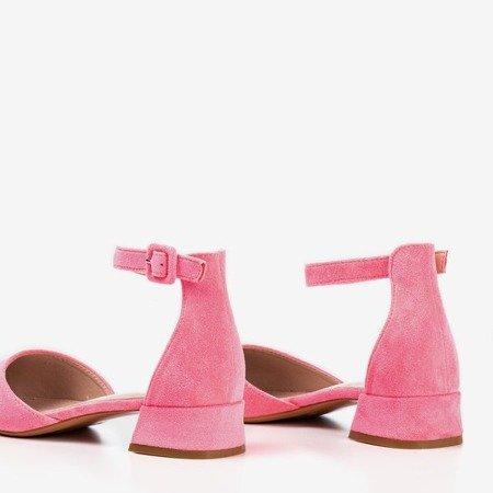 Neon pink women's ballerinas with flat heels Tigrana - Footwear