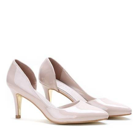 OUTLET Beige pumps on a Kirah heel - Shoes