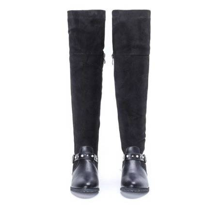 OUTLET Black Lumiene flat heel boots - Footwear