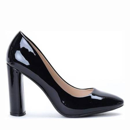 OUTLET Black pumps on the post of Dahlia - Footwear