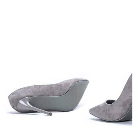 OUTLET Gray pumps on a Aubrie stiletto heel - Shoes