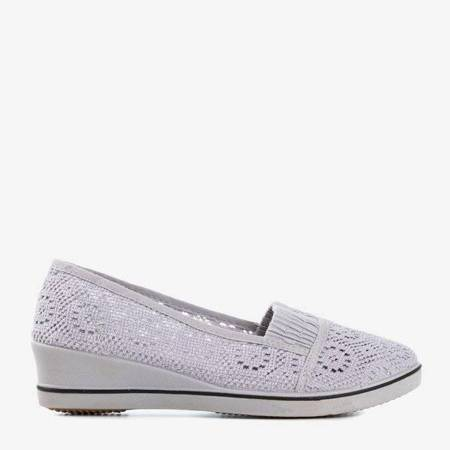 OUTLET Gray sneakers on a low wedge Faser - Shoes