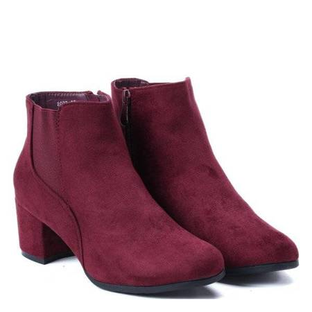 OUTLET Maroon boots on the Lina-Footwear post