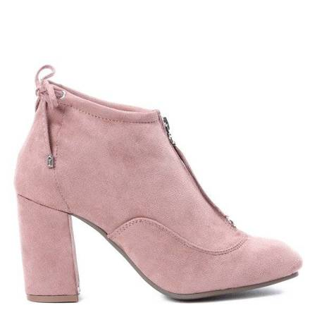 OUTLET Pink boots on the post Gloria - Shoes