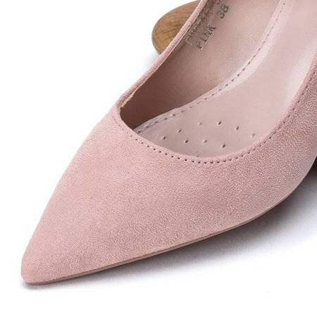 OUTLET Pink pumps with eco suede Cordelia - Shoes