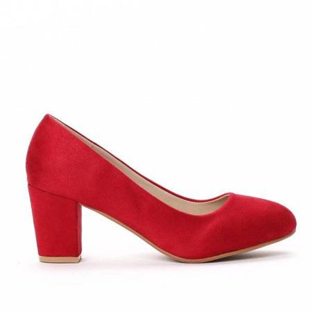 OUTLET Red pumps with low heels Daria- Shoes