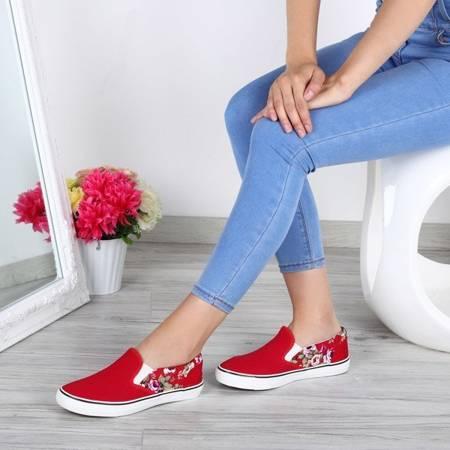 OUTLET Red sneakers slip on Corleone - Footwear