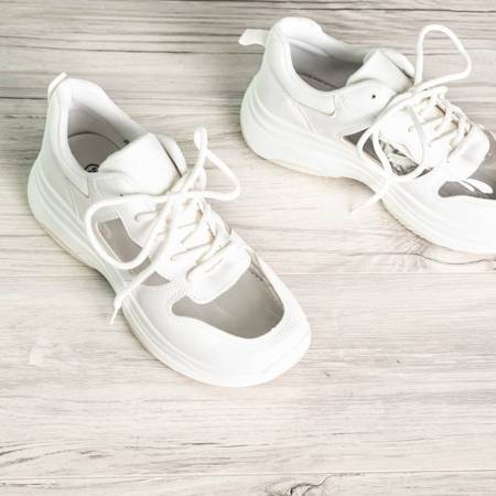 OUTLET White sports shoes with a transparent Delta insert - Footwear