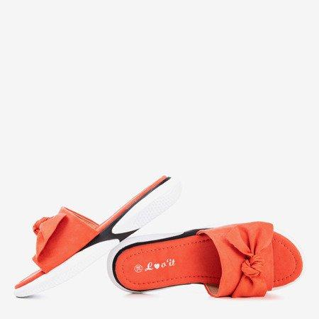 Orange flip flops with Semuala bow - Footwear 1
