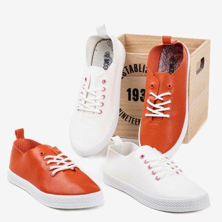 Orange lace-up sneakers Ewilia - Footwear