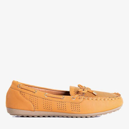 Orisa brown loafers with a bow - Shoes