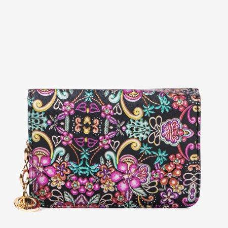 Patterned small women's wallet in black - Wallet