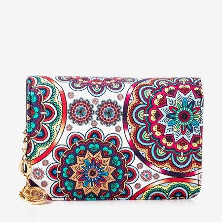 Patterned small women's wallet in blue - Wallet
