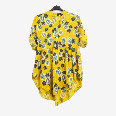 Patterned tunic for women in yellow - Blouses 1