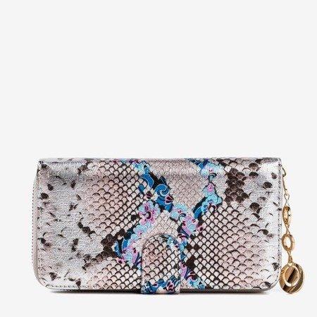 Patterned women's wallet a'la snake skin in gray - Wallet