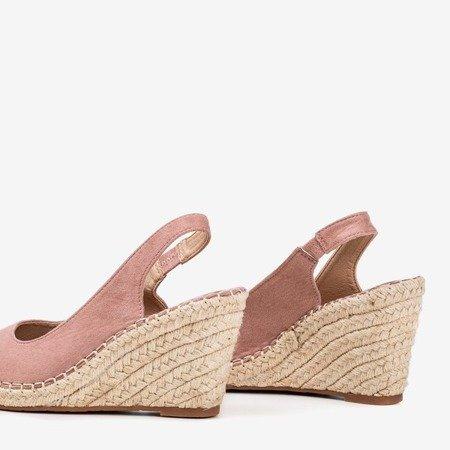 Pink Lacasia Women's Wedge Sandals - Footwear