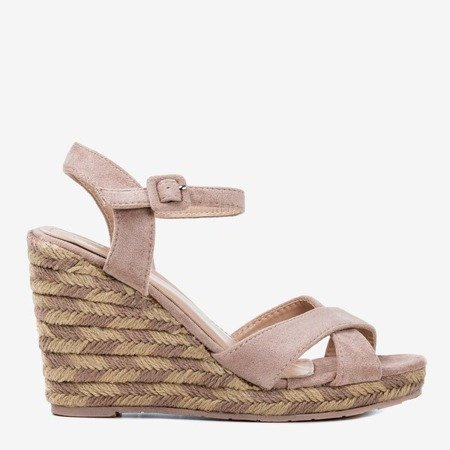 Pink Wedge sandals Porciss - Footwear 1