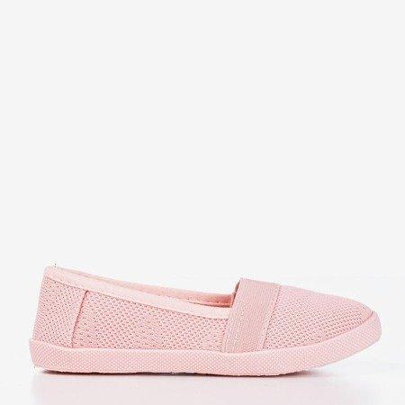 Pink girl's openwork slip - on Nugas- Footwear 1