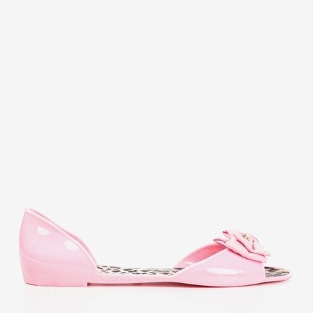 Pink melissa with a bow Oryna - Footwear