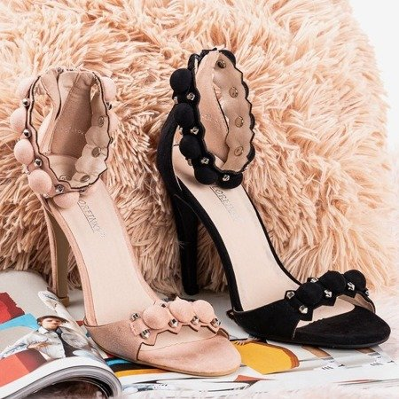 Pink sandals on a high heel Poliase - Footwear 1