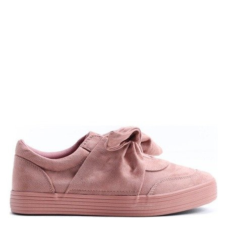 Pink sports sneakers tied with a ribbon Clamiss - Footwear 1