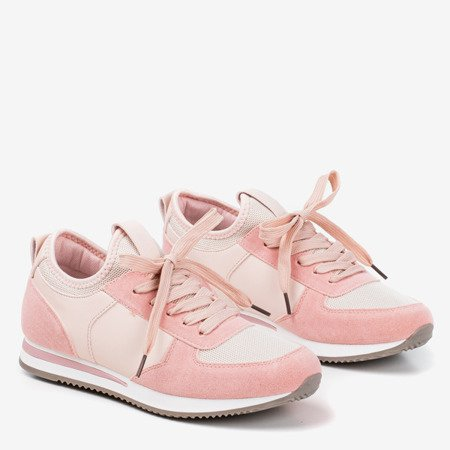 Pink women's sports shoes on an indoor wedge Lyseria - Footwear 1